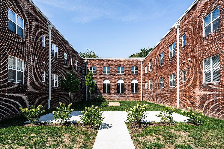 apartment yard